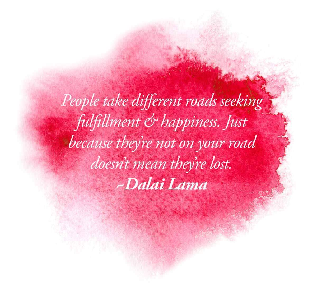 <b>What path are you on?</b> What do you think of others that are on different roads?